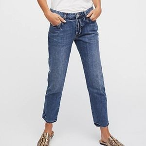 FREE PEOPLE - Slim Boyfriend Jeans - New $78